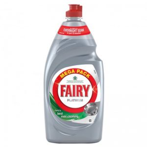 Fairy Washup Platinum Lemon 870ml, Pk8