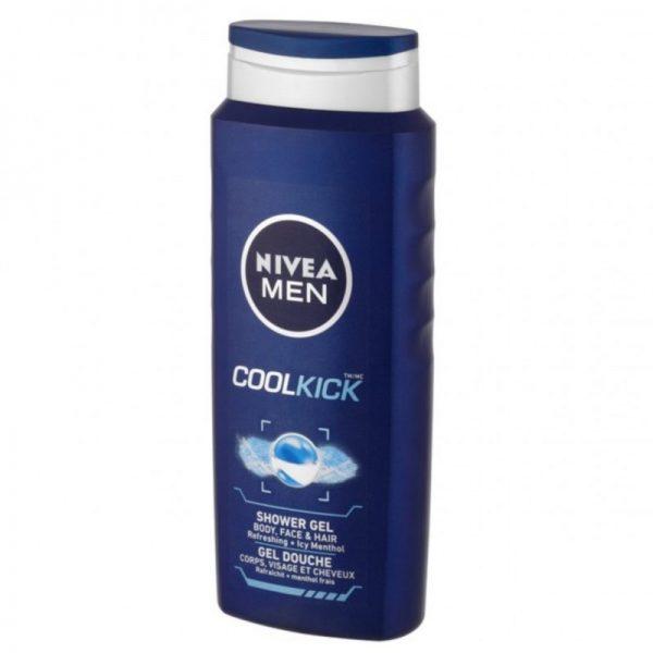 Nivea Shower Gel 500ml For Men Cool Kick, Pk6
