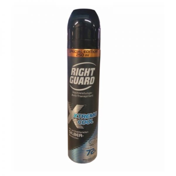 Rightguard Deo Spray 250ml Extreme Cool, Pk6